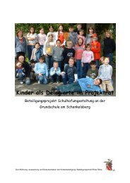 Kinder als Delegierte im Projektrat