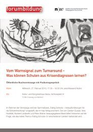Veranstaltungsflyer - Forum Bildung