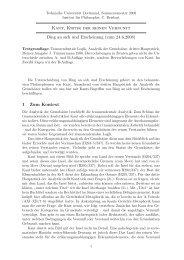 Kant, Kritik der reinen Vernunft Ding an sich und Erscheinung (zum ...