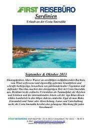 Sardinien - First Reisebüro
