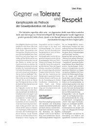 Gegner mit Toleranz und Respekt (PDF