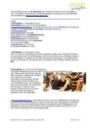 Herzlich Willkommen zum 40. Newsletter des Programms