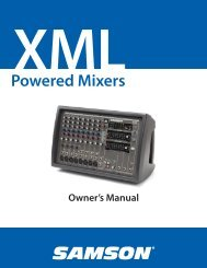Download the XML410 English User Manual in PDF format - Samson