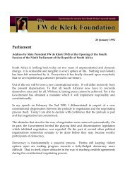 Parliament - FW de Klerk Foundation
