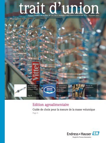 Edition agroalimentaire - Endress+Hauser