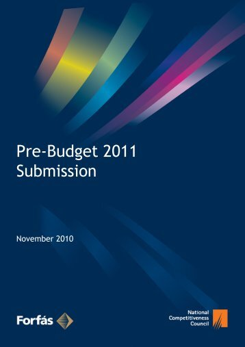 Pre-Budget Submission 2011 - The National Competitiveness Council