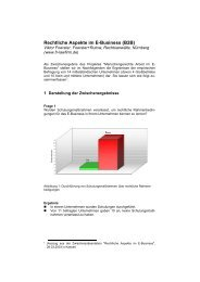 Rechtliche Aspekte im E-Business (B2B) - Foerster und Rutow ...