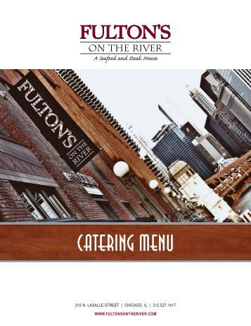 Catering Menu - Fulton's on the River