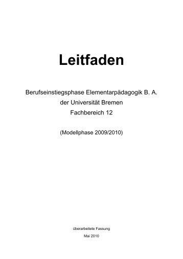 Leitfaden Berufseinstiegsphase - Frühkindliche Bildung - Universität ...