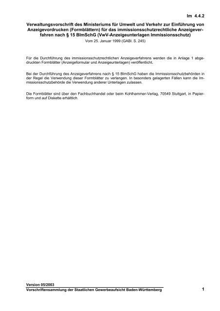 4.4.2 - Gewerbeaufsicht - Baden-Württemberg