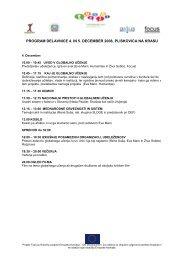 PROGRAM DELAVNICE 4. IN 5. DECEMBER 2008, PLISKOVICA ...
