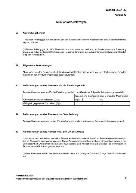 2.2.1.42 - Gewerbeaufsicht - Baden-Württemberg