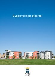 Bygglovpliktiga åtgärder - Gävle kommun