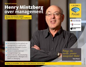 Henry Mintzberg over management - Focus Conferences