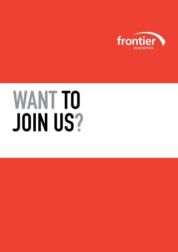 Download recruitment brochure - Frontier Economics