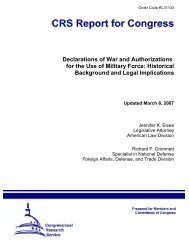 Declarations of War and Authorizations for the Use of Military Force ...