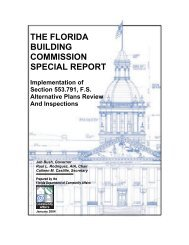 Alternative Plans Review and Inspections - Florida Building Code ...