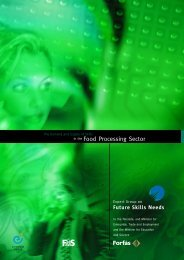 The Demand and Supply of Skills in the Food Processing ... - Forfás