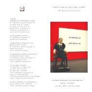 Gedruckte Einladung - Galerie Dorothea van der Koelen