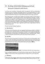 I/3 Berstlining: Ein Bericht über Erfahrungen aus der Praxis - FITR