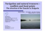 Navigation and natural treasures – conflicts and focal points