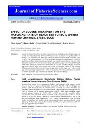 EFFECT OF IODINE TREATMENT ON THE HATCHING RATE OF ...