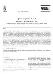 Optical properties of U   P