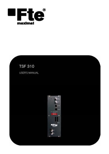 TSF 310 - FTE Maximal