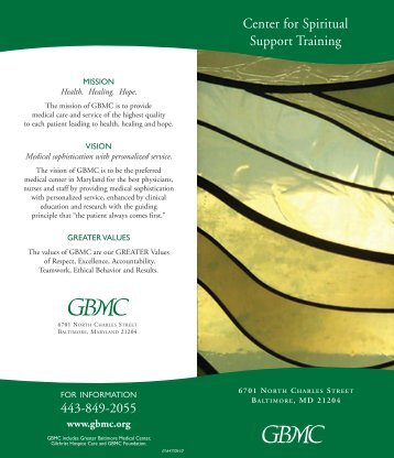 CSST brochure - Greater Baltimore Medical Center