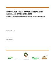 manual for social impact assessment of land-based ... - Forest Trends