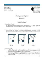 Übungen zur Physik I