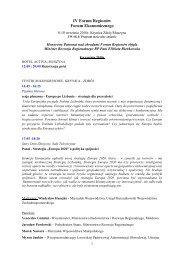PROGRAM GODZINOWYForum Regionów2010_strona_www