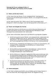 Satzung des Forum Justizgeschichte e.V. vom 28.08.1998 in der ...