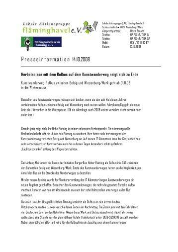 Bearbeiter: - Naturpark Hoher Fläming