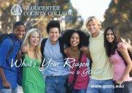 Award Winning Viewbook - Gloucester County College