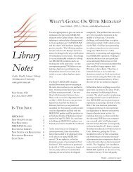 libnotes #21-2 - Galter Health Sciences Library - Northwestern ...