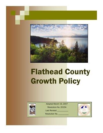 Flathead County Growth Policy - Flathead County Health Department