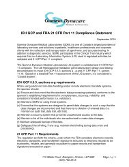 ICH GCP and FDA 21 CFR Part 11 Compliance Statement - Gamma ...