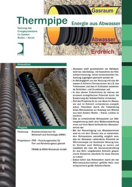 THERMPIPE - Energetische Entwicklung - FITR