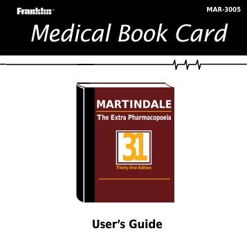 Medical Book Card - Franklin Electronic Publishers, Inc.