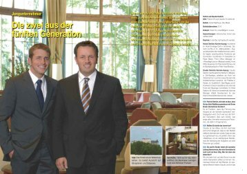 Die zwei aus der fünften Generation - Hotel & Gastro Union