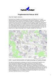 Fluglärmbericht Februar 2010 - Stuttgart