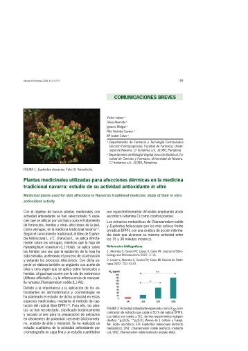 Plantas medicinales utilizadas para afecciones ... - Fitoterapia.net