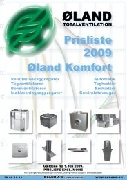Komfortteknik - Øland Online