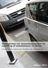 Redegørelse om rammebetingelser for opstilling af ladestationer til ...