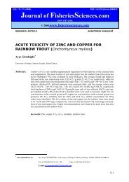 ACUTE TOXICITY OF ZINC AND COPPER FOR