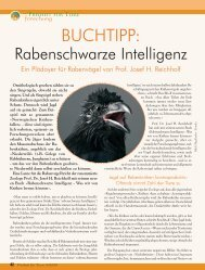 Rabenschwarze Intelligenz - Magazin Freiheit für Tiere