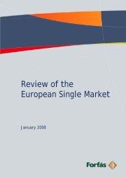 Review of the European Single Market - Forfs - Forfás
