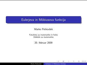 vzorec ustne predstavitve (pdf) - Fakulteta za matematiko in fiziko