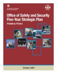 FTA Five-Year Strategic Plan - Federal Transit Administration - U.S. ...
